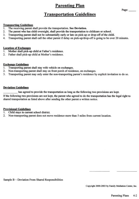 Transportation Guidelines