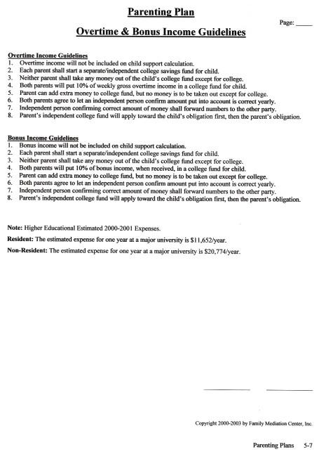 Overtime & Bonus Income Guidelines